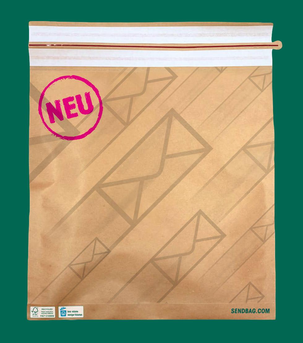 Die neue Versandtasche aus Papier von WEBER Verpackungen