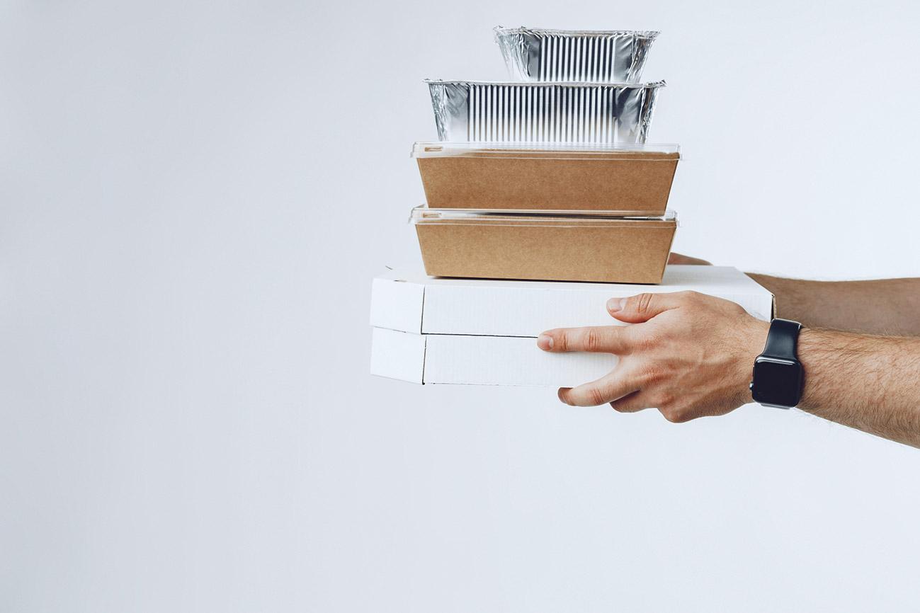 Gestapelte Verpackungen