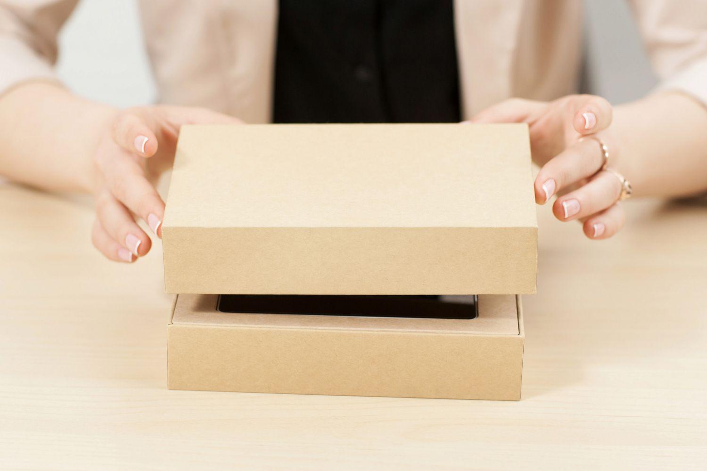 Eine Schachtel. Thema Verpackungstrends